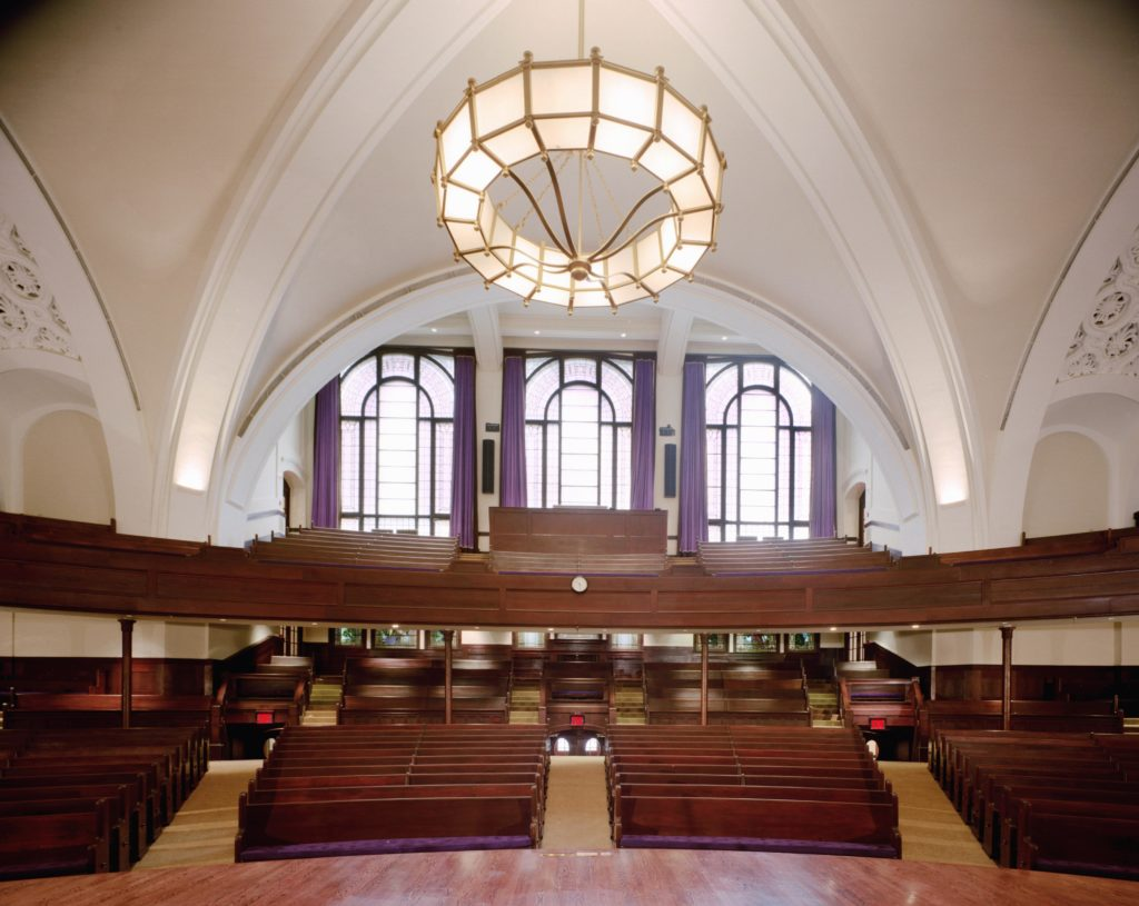 The Renovated Auditorium of the new York Society for Ethical Culture